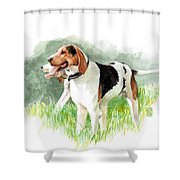 Two Hounds Shower Curtain