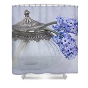Two Hyacinth Flowers Shower Curtain