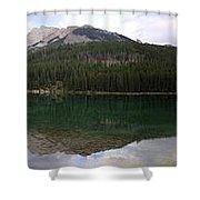 Two Jack Lake Sunset - Banff Nat. Park, Alberta Shower Curtain