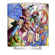 Two Jesters Shower Curtain by Caitlyn  Grasso
