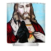 Two Jesuses Shower Curtain