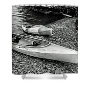 Two Kayaks On Seneca Lake Shower Curtain
