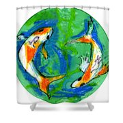 Two Koi Fish Shower Curtain