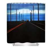 Two-lane Blacktop Shower Curtain