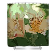Two Lilies Cutout Shower Curtain