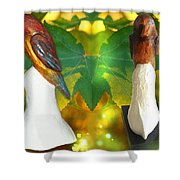 Two Lovely Birds Shower Curtain