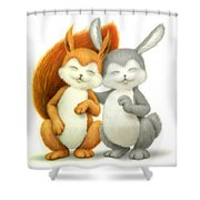 Two Lovely Friends Shower Curtain