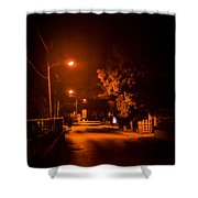 Lovers In The Night Shower Curtain