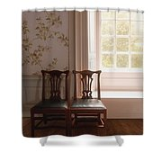 Two Shower Curtain by Margie Hurwich