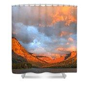 Sinopah Mountain And Two Medicine Lake Sunrise Glacier National Park Montana Shower Curtain