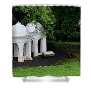 Two Meditating Cupolas In Fort Canning Park Singapore Shower Curtain