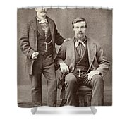 Two Men, 19th Century Shower Curtain