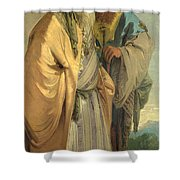 Two Men In Oriental Costume Shower Curtain