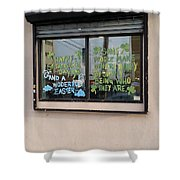 Two Messages Shower Curtain