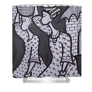 Two Messenger Carry Marriage Load To The Groom House Shower Curtain