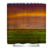 Two Mile Landing Colorful Sky Shower Curtain