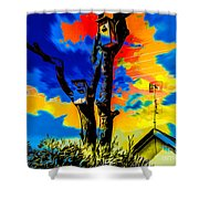 Two Nesting Boxes Shower Curtain