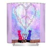 Two Of Hearts Shower Curtain