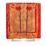 Two Of Wands Shower Curtain