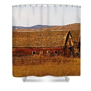 Two Old Barns Near Thorp  Wa Shower Curtain