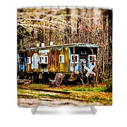 Two Old Cabooses Shower Curtain