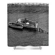 Two Old Rowboats Shower Curtain