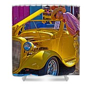 Two Old Timers  Shower Curtain