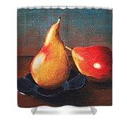 Two Pears Shower Curtain by Anastasiya Malakhova
