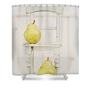 Two Pears And A Chair Still Life Shower Curtain