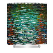 Two Pines Shower Curtain