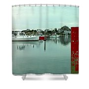 Two Poles Shower Curtain by Kathy Barney