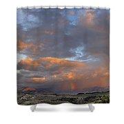 Two Rainbows In Sierra Nevada Shower Curtain