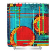 Two Red Suns Shower Curtain