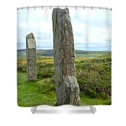 Two Ring Of Brodgar Stones Shower Curtain