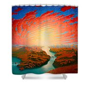Two Rivers Shower Curtain