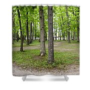 Two Roads Diverged Letchworth State Park Panorama Shower Curtain