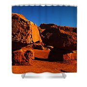 Two Rocks At Cliff Dwellers Shower Curtain