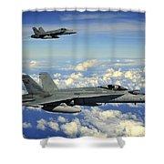 Two Royal Australian Air Force Fa-18 Shower Curtain