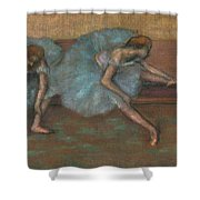 Two Seated Dancers Shower Curtain