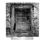 Two-seater Outhouse Shower Curtain