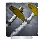 Two Soaring Harvards Shower Curtain