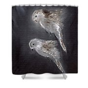 Two Spirits In The Night Shower Curtain