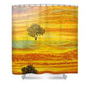 Two Sunsets In Limassol Shower Curtain