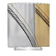 Two Tanks Two Steps Shower Curtain
