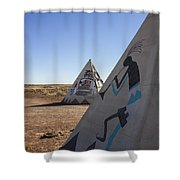 Two Teepees Shower Curtain