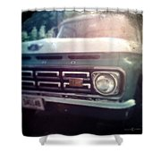Two-tone Ford Pickup Shower Curtain