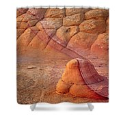 Two Tone Rock Shower Curtain