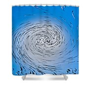 Two Tone Vortex Shower Curtain