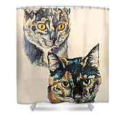 Two Torti's Shower Curtain