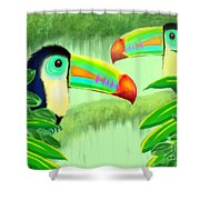 Two Toucans Shower Curtain